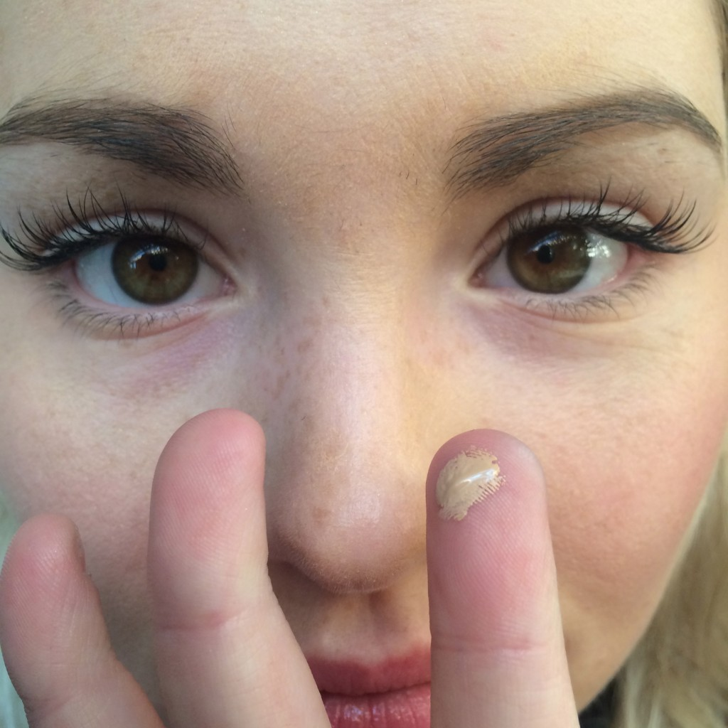 Use a tiny amount of your chosen concealer to start