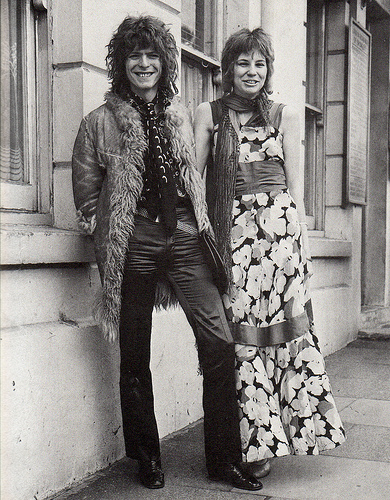 David and Angie get married in Bromley, 1970