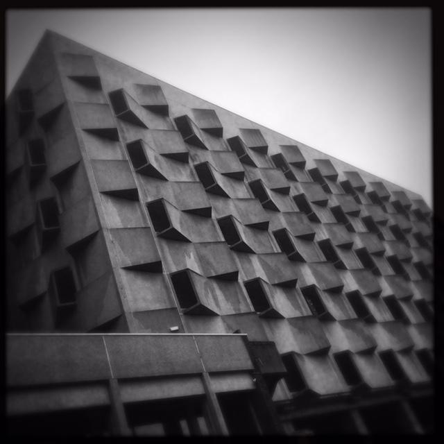 Brutalist concert building in Ghent