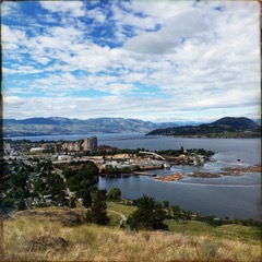 view of Kelowna BC from Knox Mountain
