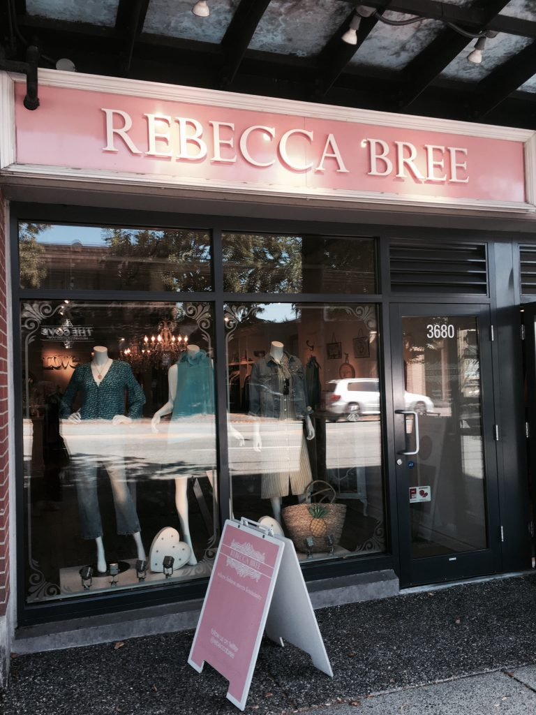 Rebecca bree boutique shopfront